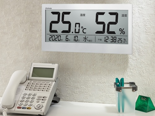 <u>オフィスの空調管理に!温度湿度計で「暑い・寒い」のムラを解消</u>