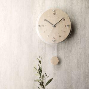 アナログ 振り子 壁 掛時計 W-473 アンティール