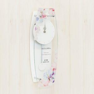 名入れ振り子時計フラワーホワイト