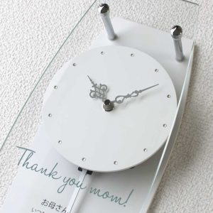 振り子名入れ時計カーネーション時計部分