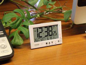 MAG温度湿度計付き電波時計エアサーチミチビキ