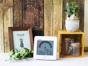 MAG(マグ) 置掛兼用 ライト 時計付き デジタル 温度 湿度計 インデクス TH-104